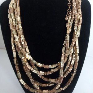 Chico's Gold-Tone Multi-Layered Necklace 22'